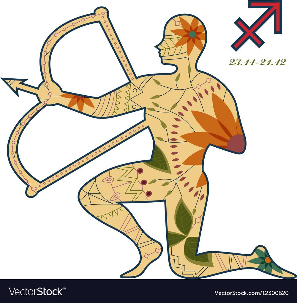 Saggitarius zodiac sign retro