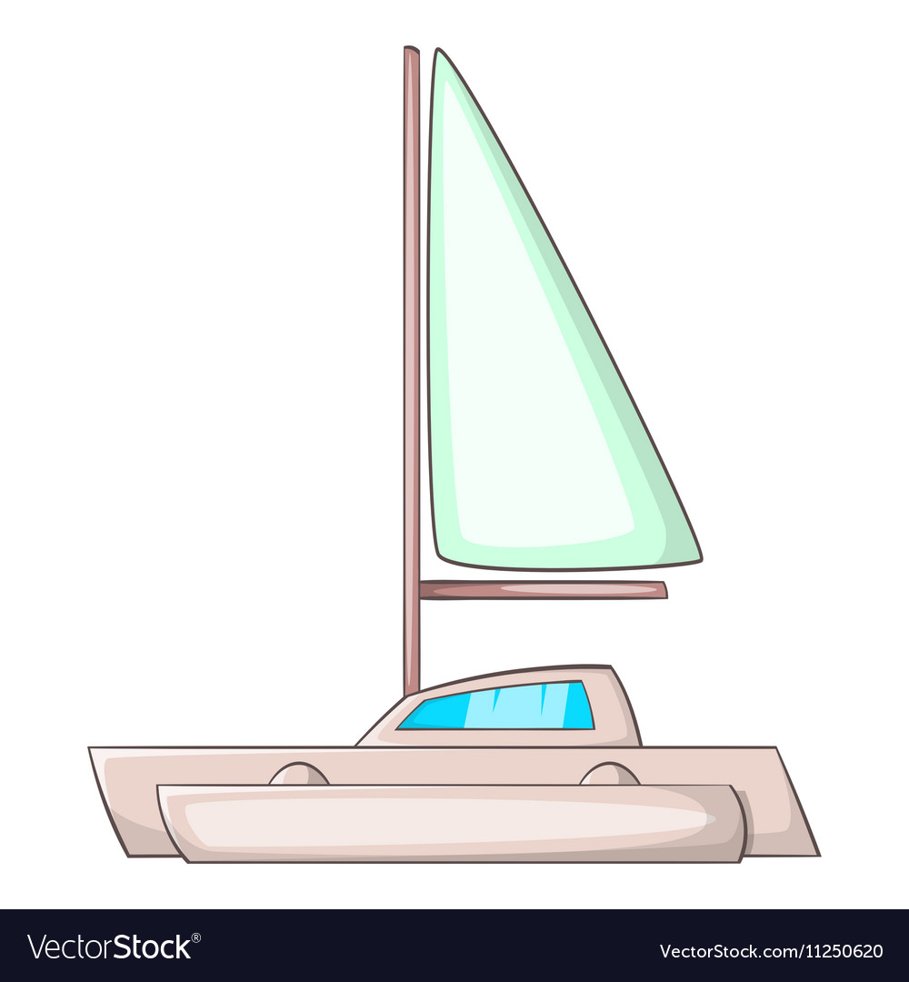 Small boat icon cartoon style