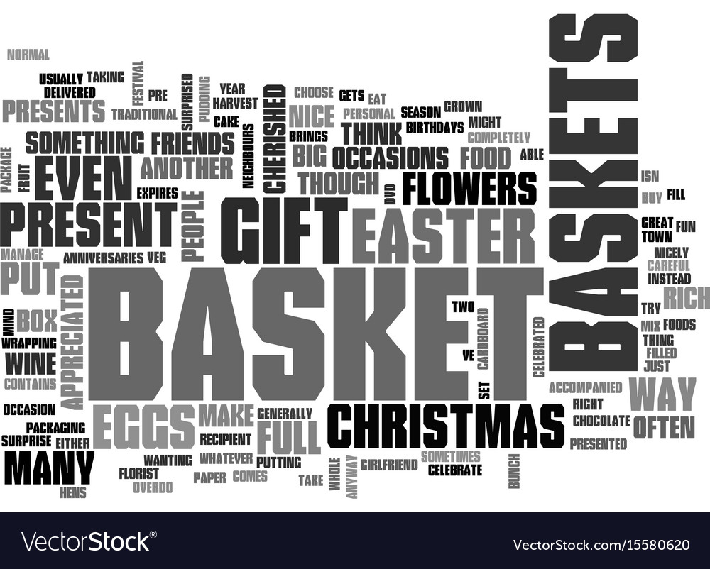 What would you put in your gift basket text word