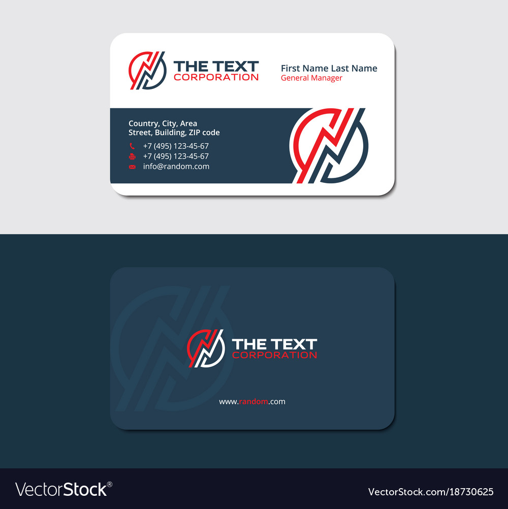 business card for an electrician vector image - Electrician Business Cards