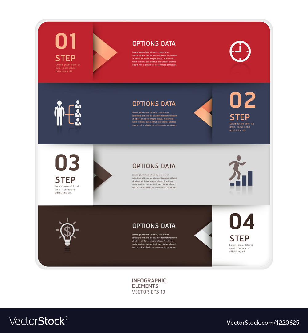 Business step up options origami style vector image