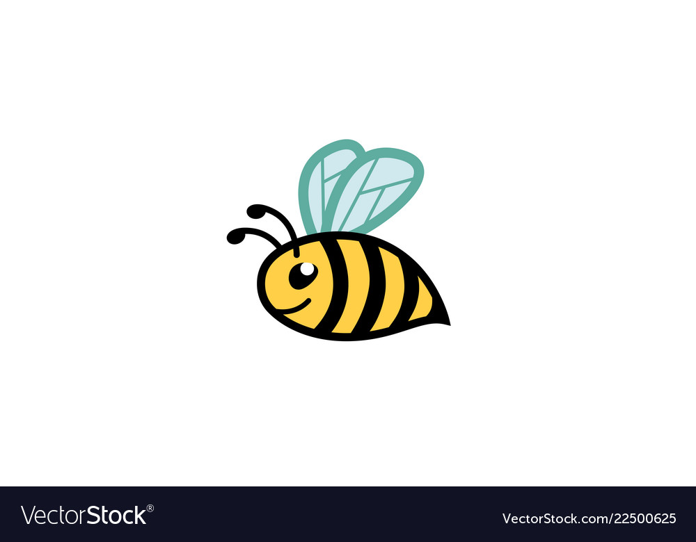 Creative cute fat bee logo