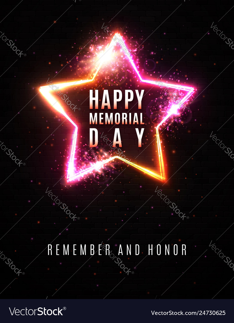 Happy memorial day background remember and honor
