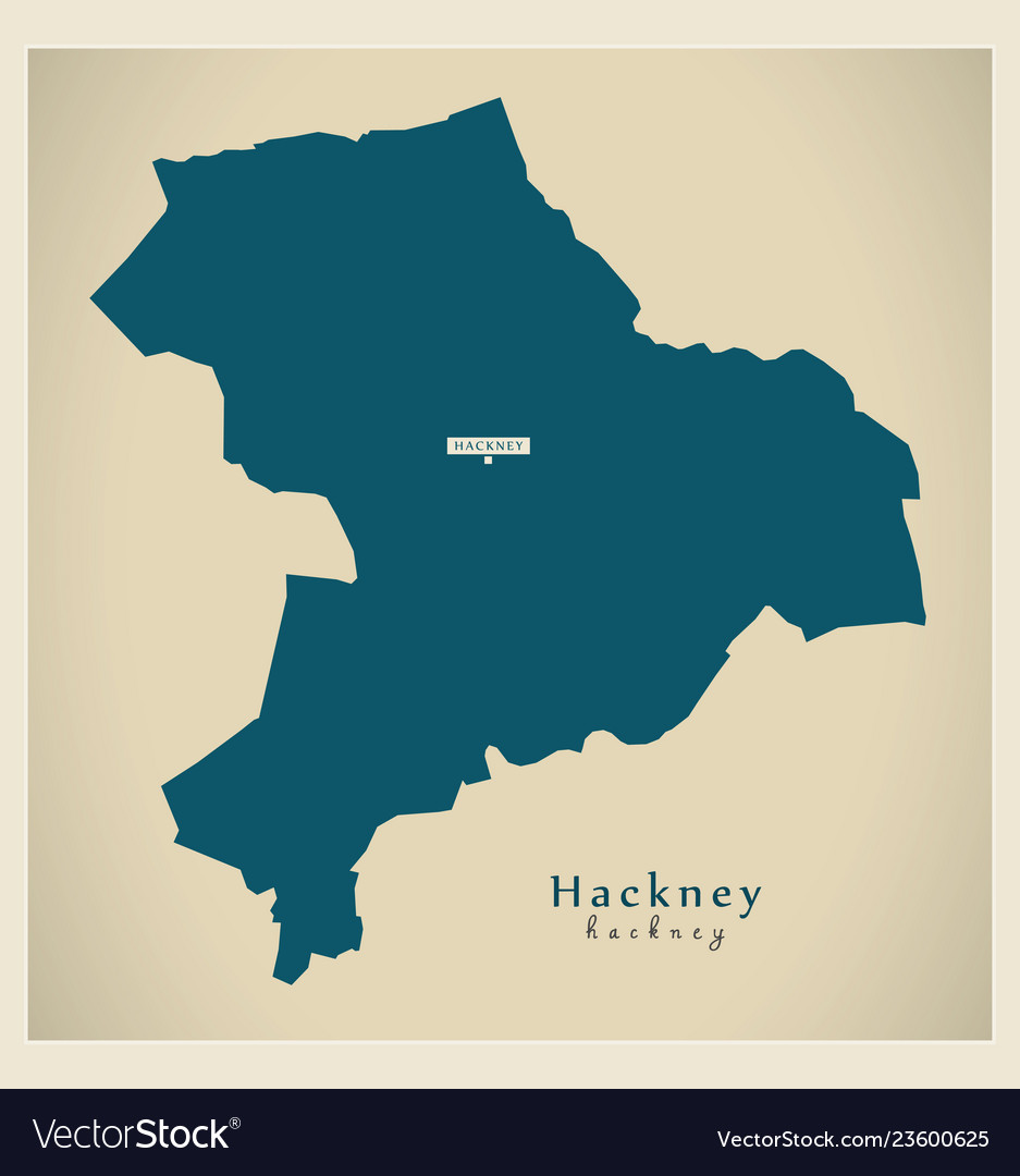 Modern Map Hackney Borough Greater London Uk Vector Image