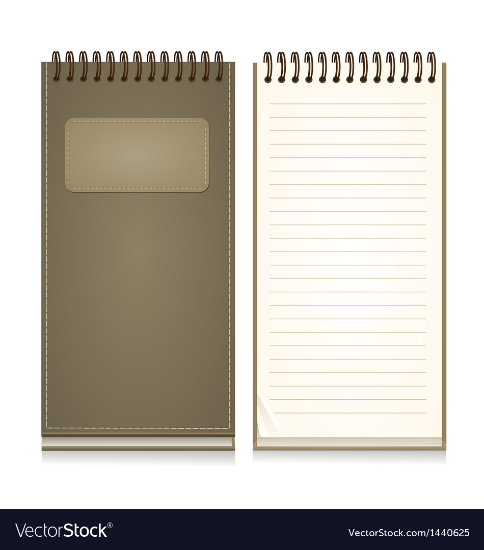Paper notebook front cover