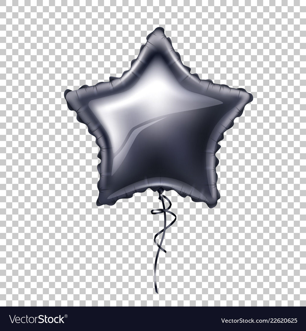 Realistic star shape balloon with lace