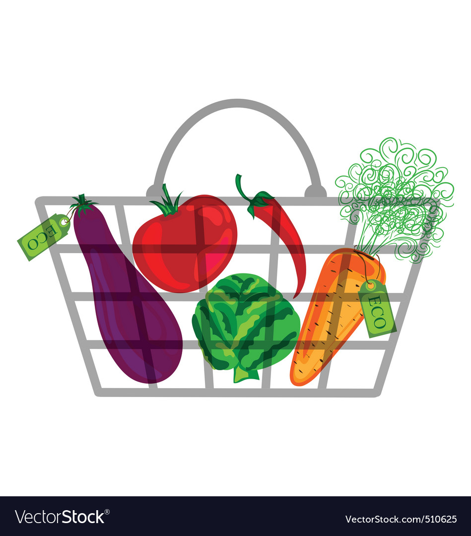 Shopping bag with vegatables