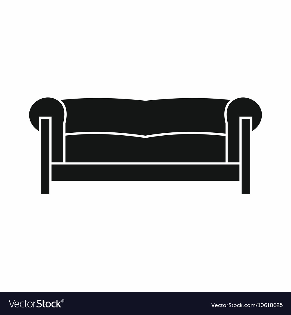 Sofa Icon Simple Style Royalty Free Vector Image