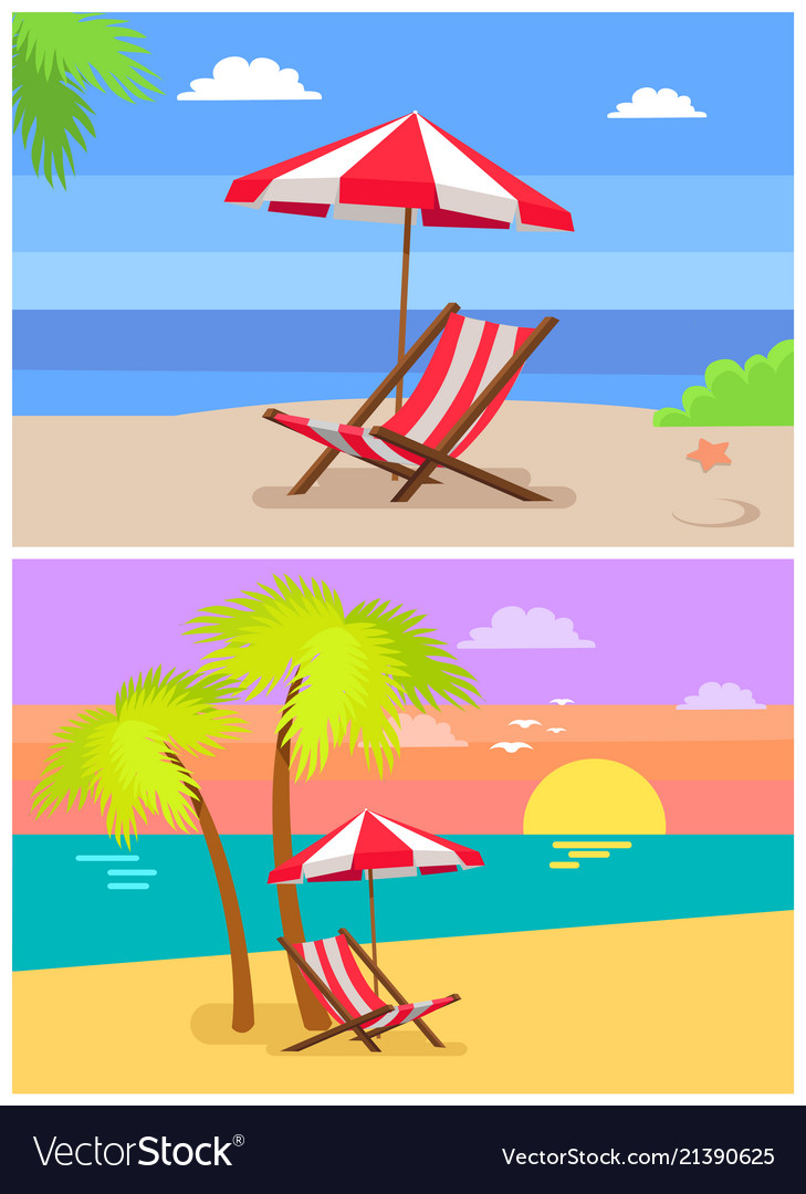 Summer beach rest colorful