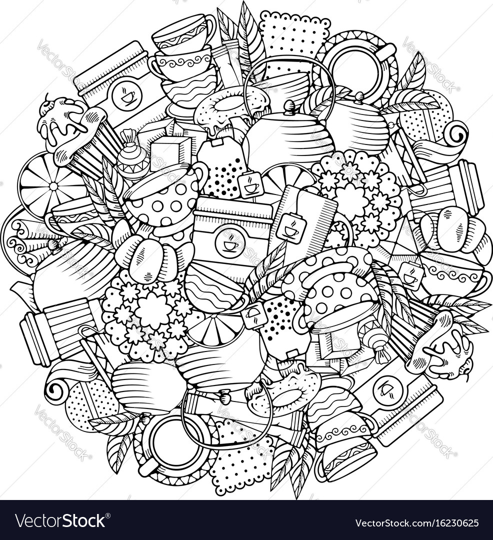Tea circle design