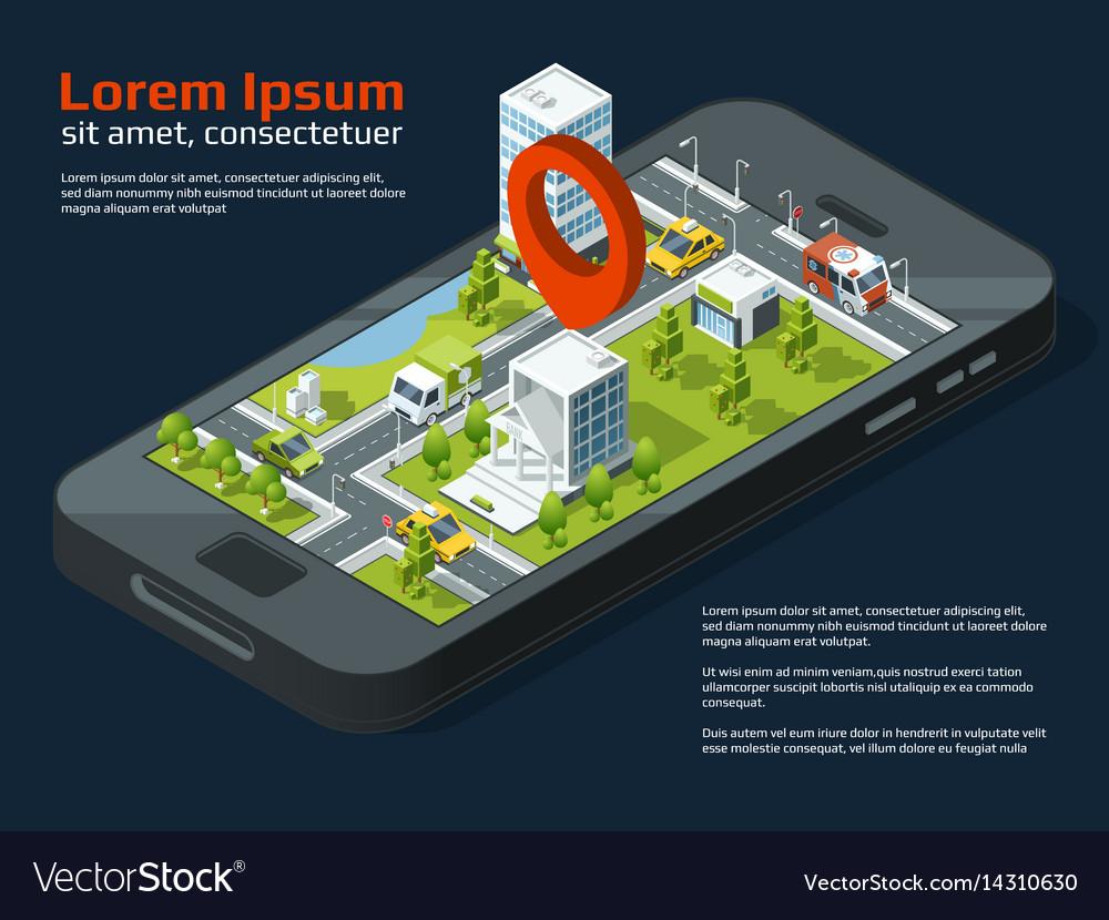 3d city concept picture different business