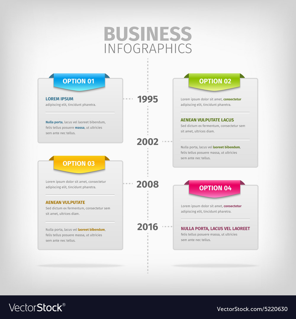 Business infographics with soft gray boxes and