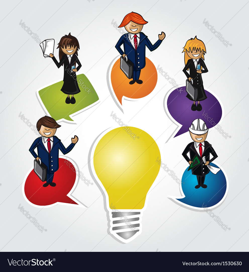 Business teamwork social idea people vector image