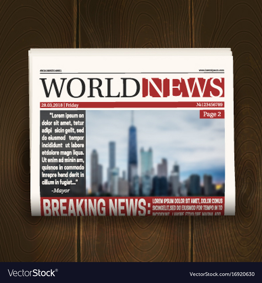 Front page newspaper realistic poster
