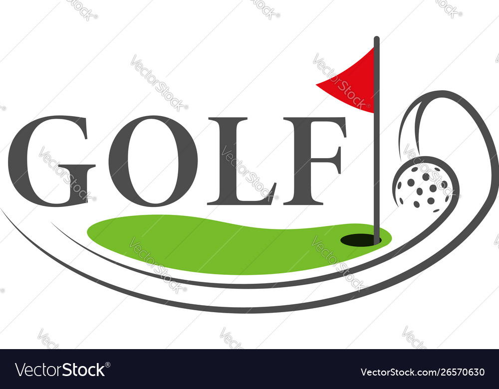 Golf logo template the logo is designed in a