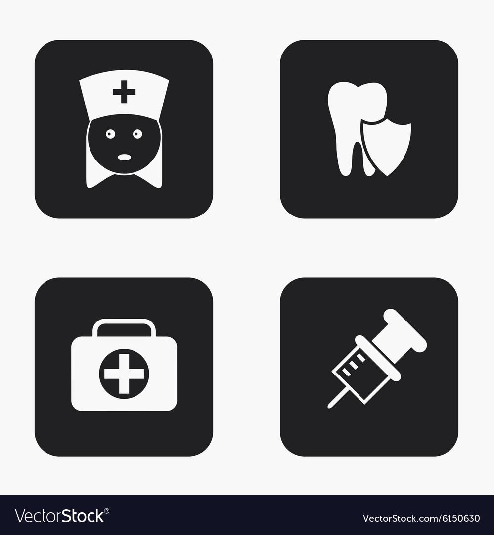 Modern medical icons set
