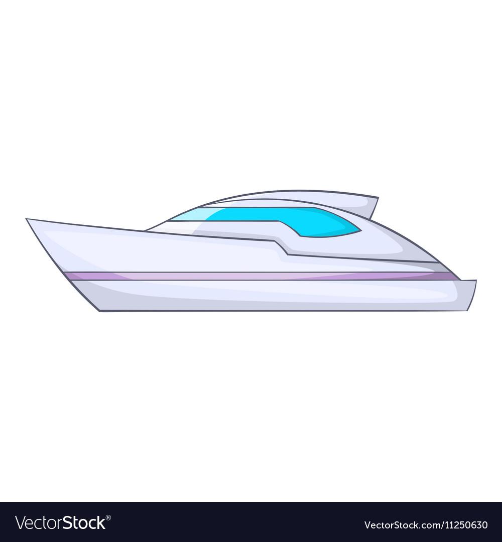 Powerboat icon cartoon style