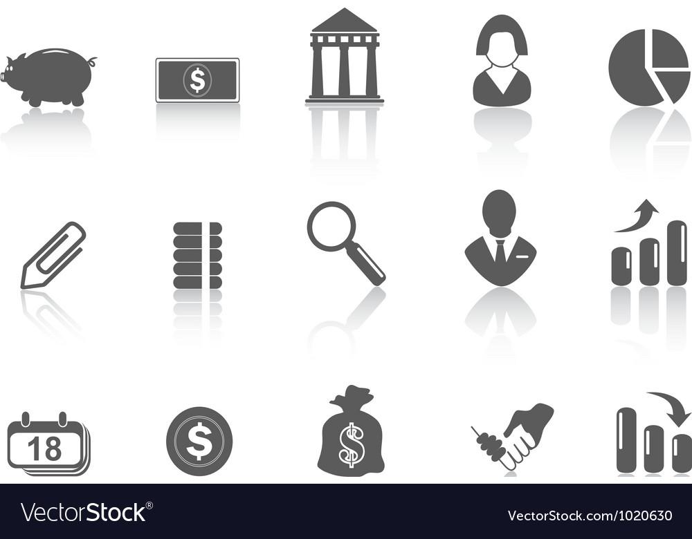 Simple bank icon vector image