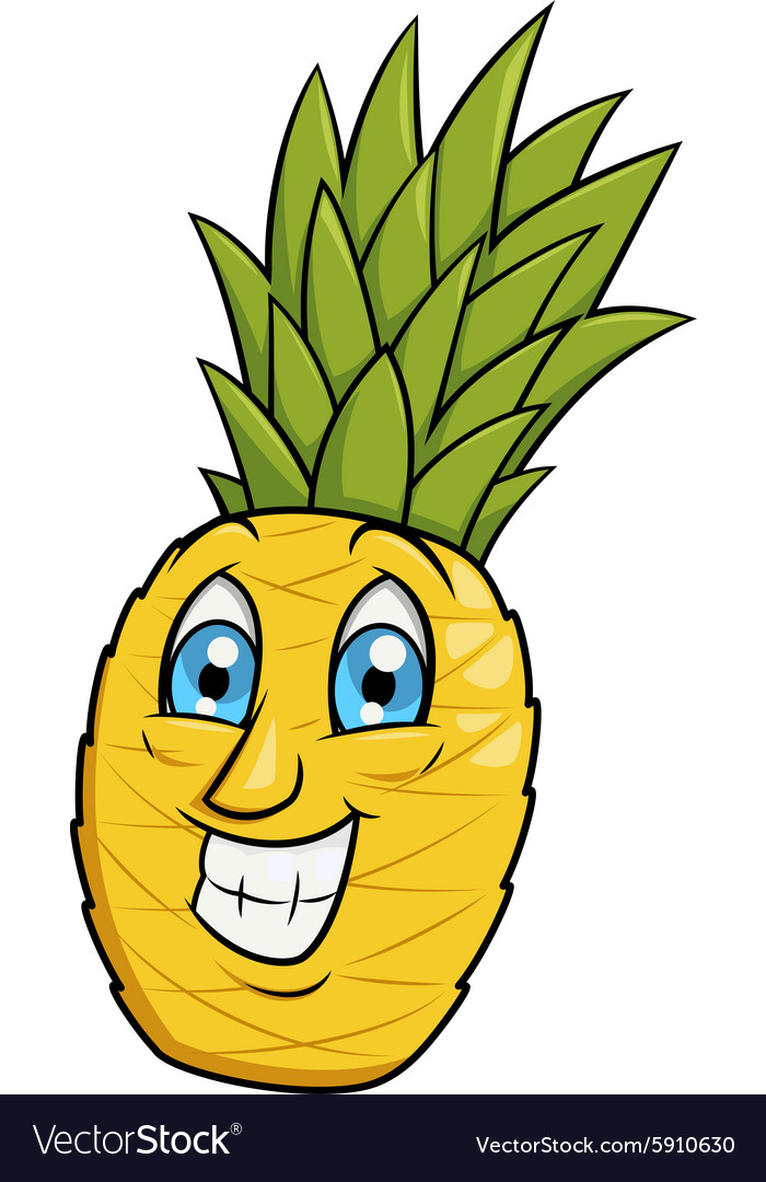 Pineapple smiling.