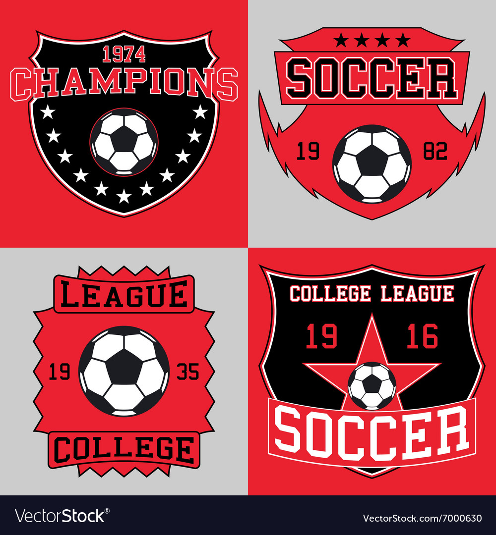 Soccer logo typography t-shirt graphics