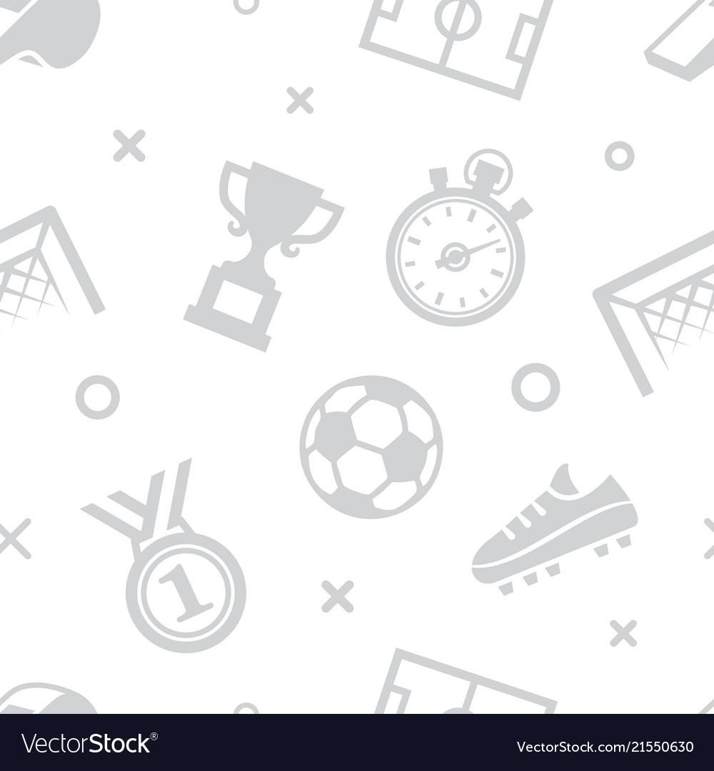 Soccer seamless pattern sport background