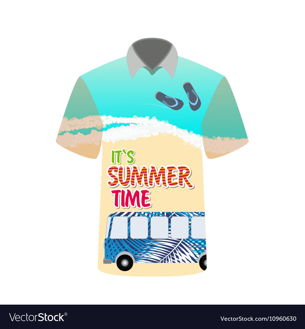 T-shirt with image of sea bus for trip to rest