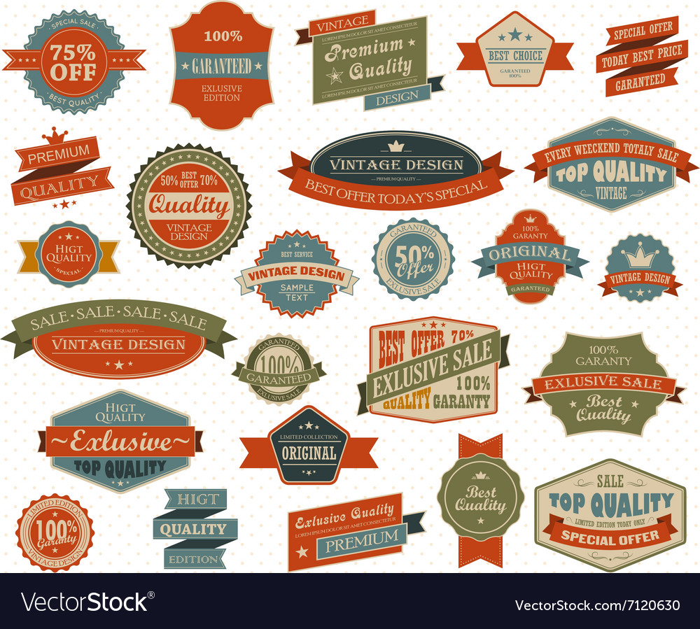 Vintage and retro design elements vector image