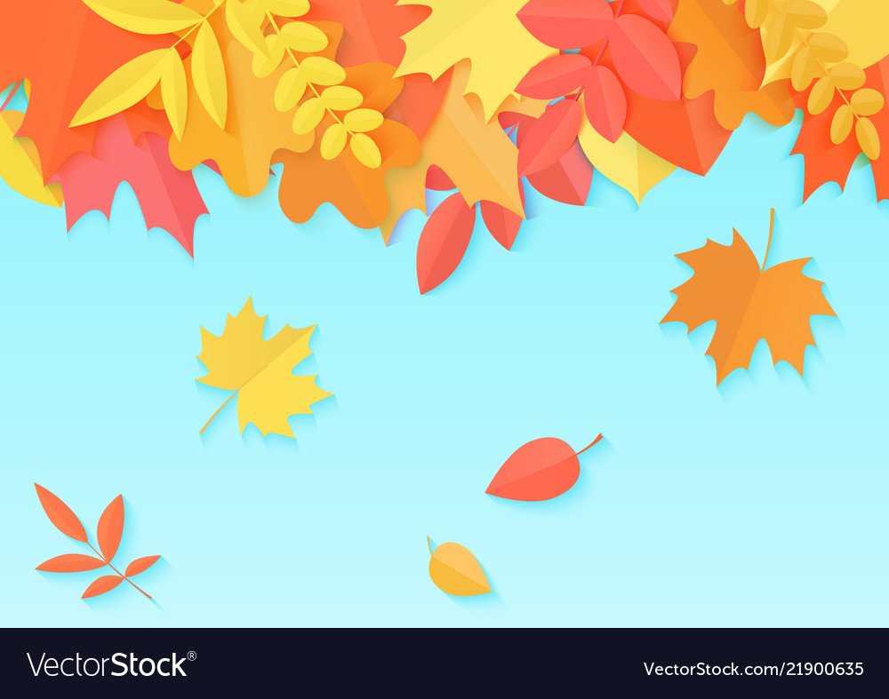 An autumn design template