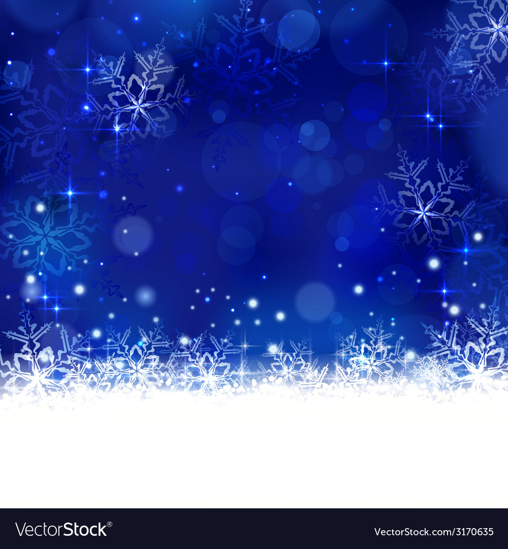 Blue winter Christmas design with
