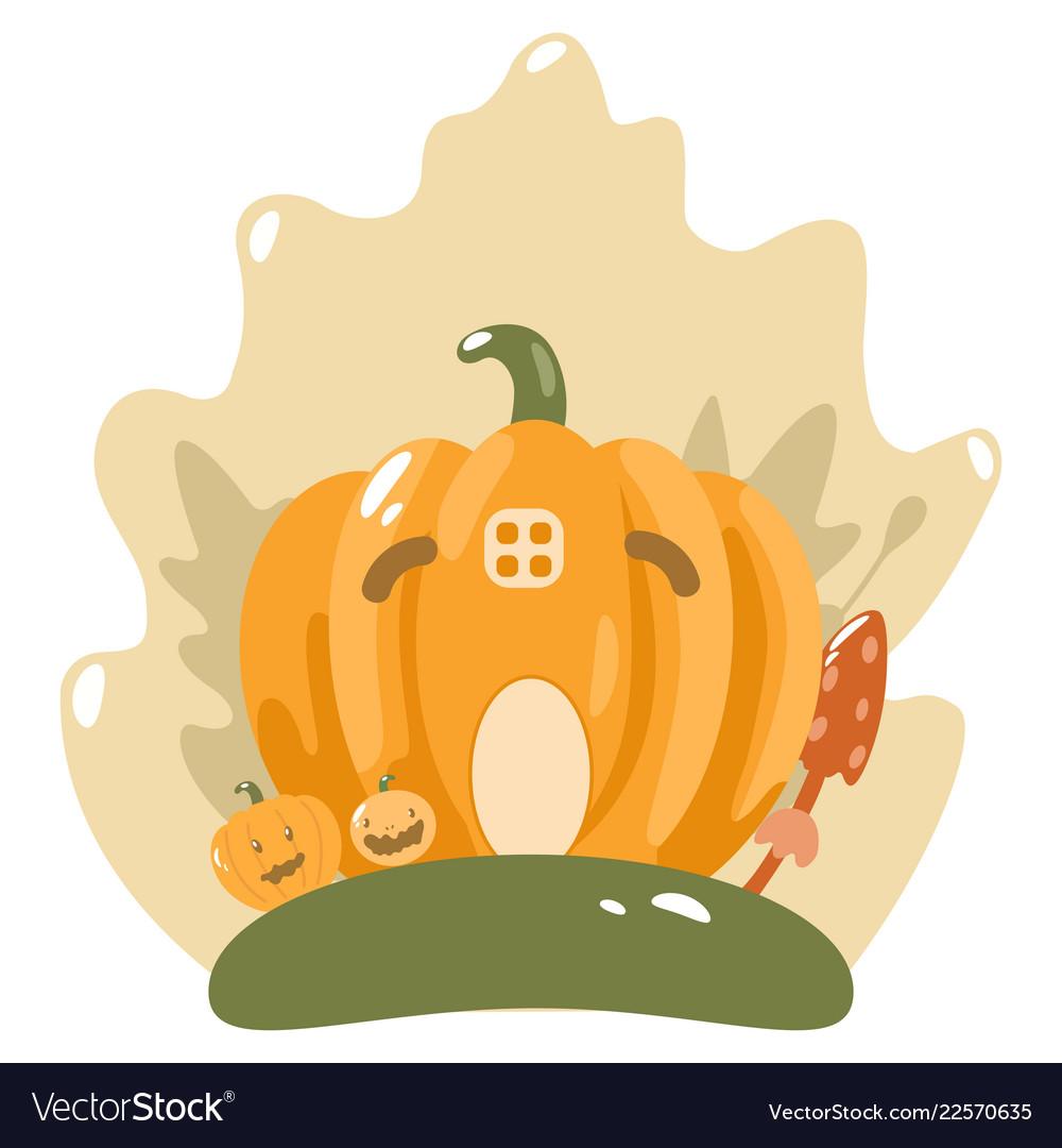Cute happy halloween design template art
