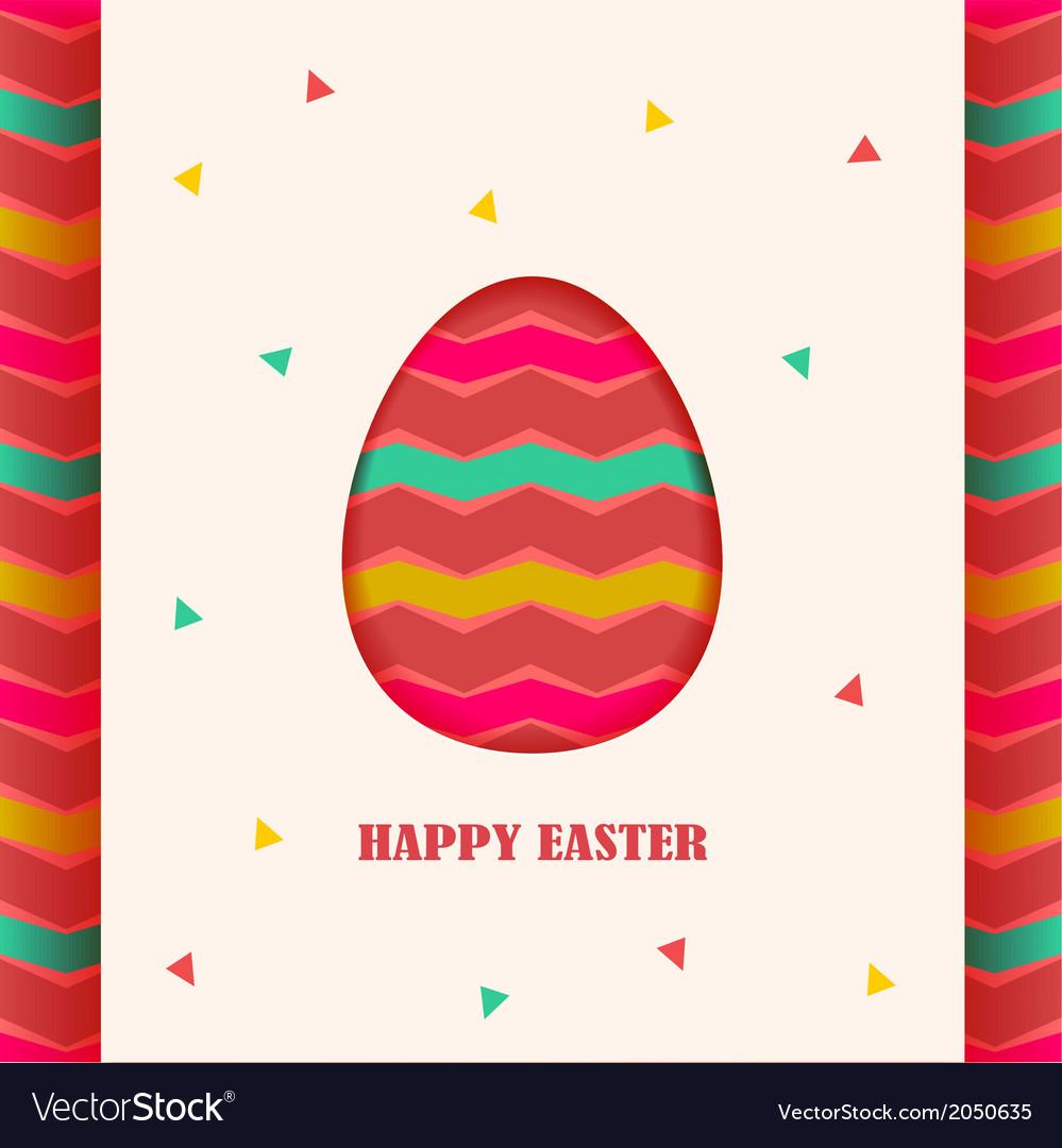 Happy Easter card design element