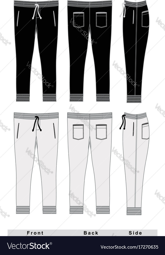 Mans fashion trousers templates vector image