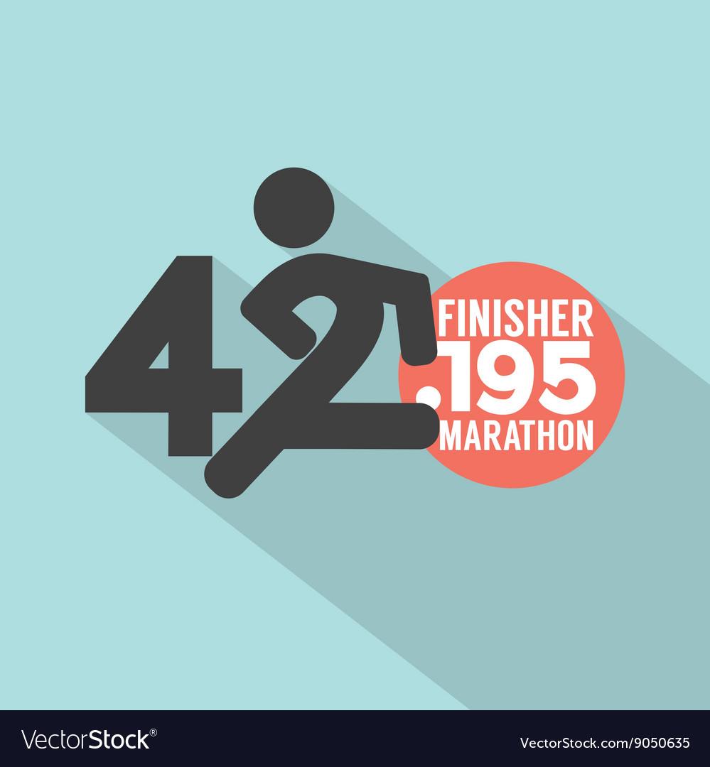 Marathon Finisher Typography Design
