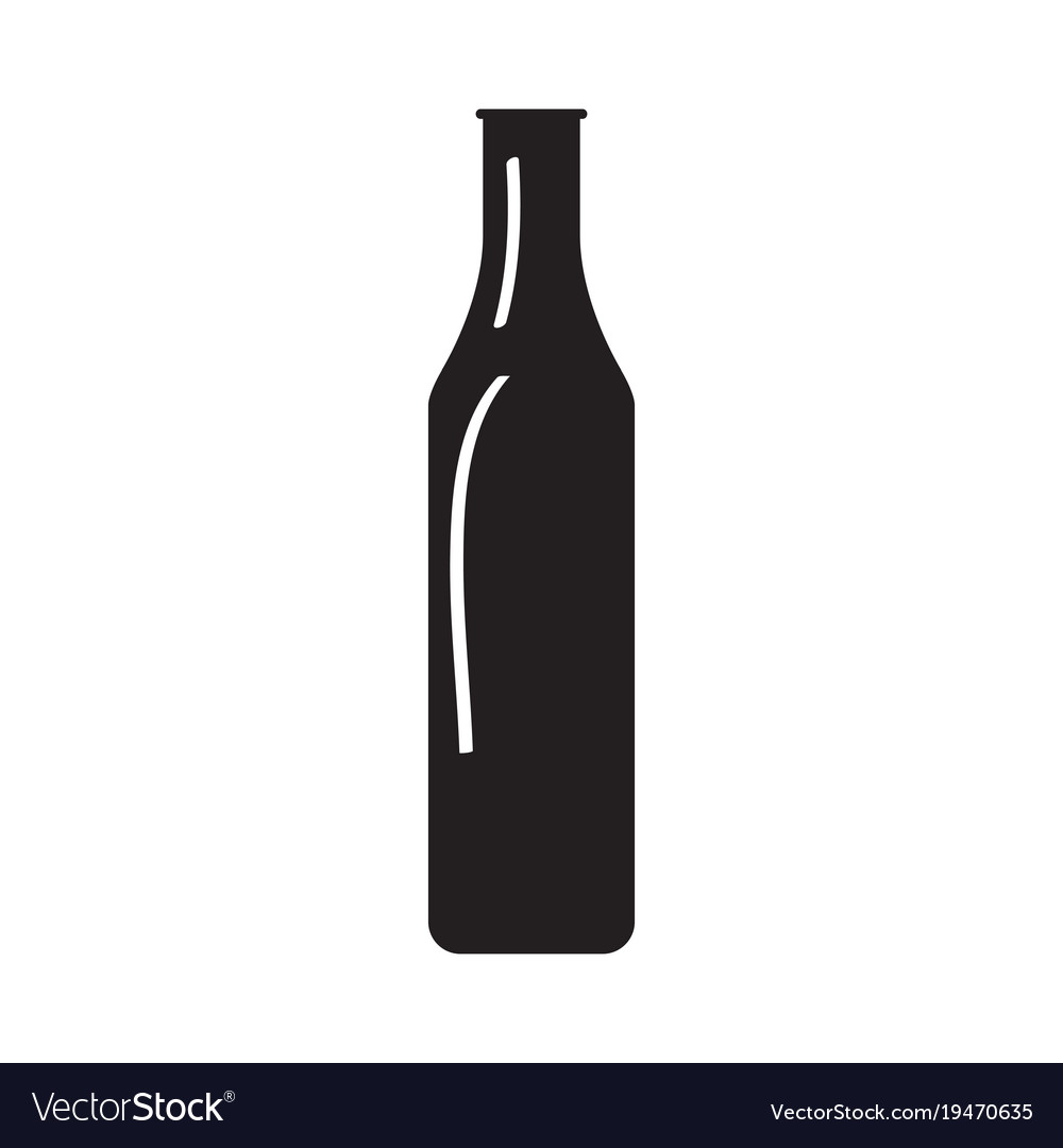 silhouette of a beer bottle royalty free vector image rh vectorstock com bottle vector silhouette bottle vector 3d