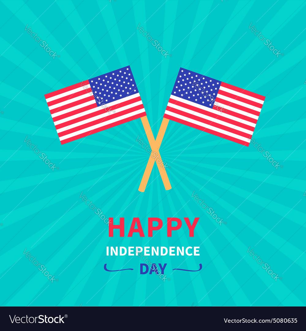 Starburst background flag Independence day vector image