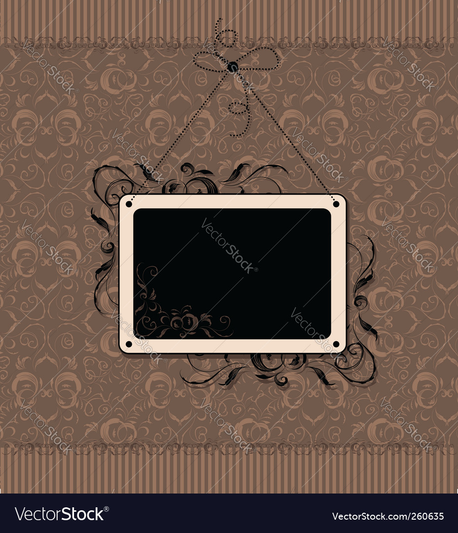 Vintage Frame With Seamless Wallpaper Vector Image On Vectorstock