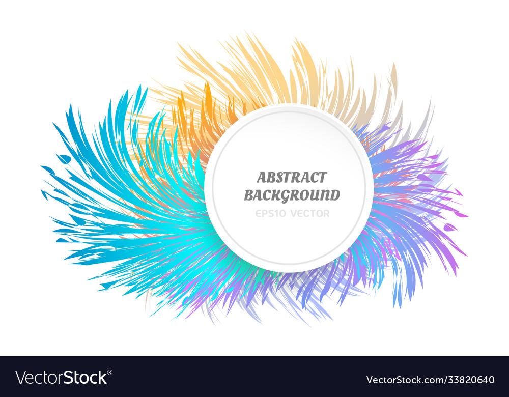 Abstract geometric background fluid shape