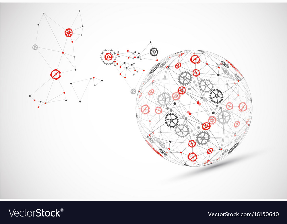 Abstract technology sphere background global
