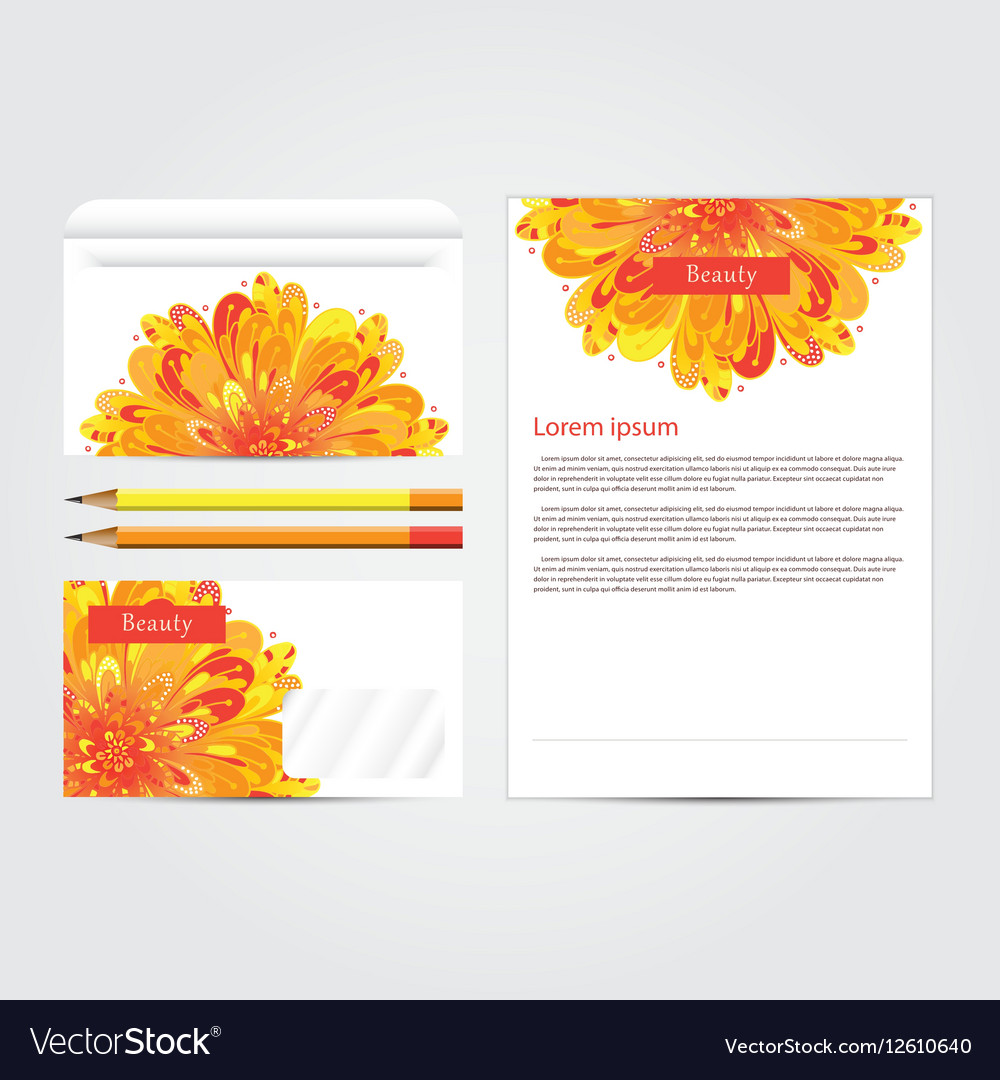 Beauty salon corporate identity template set