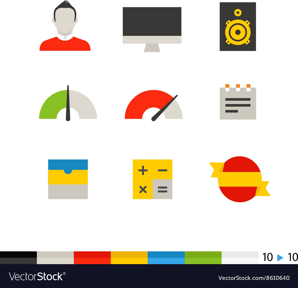 Different flat design web and application