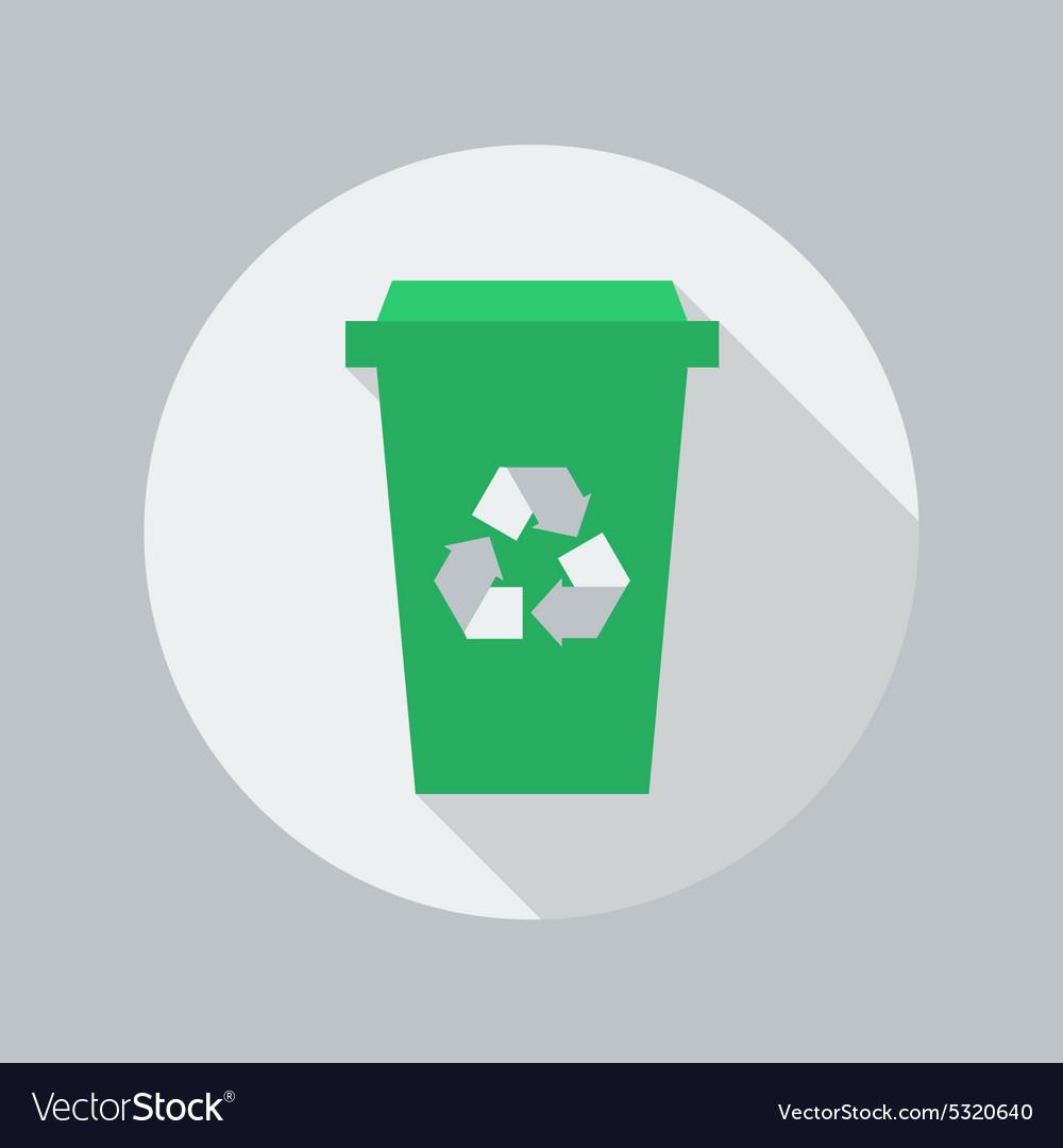 Eco Flat Icon Recycle Bin