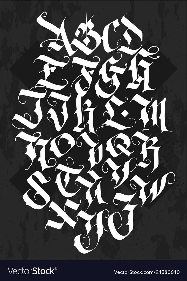 Full alphabet in gothic style