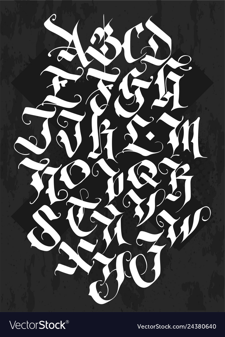 Full alphabet in the gothic style