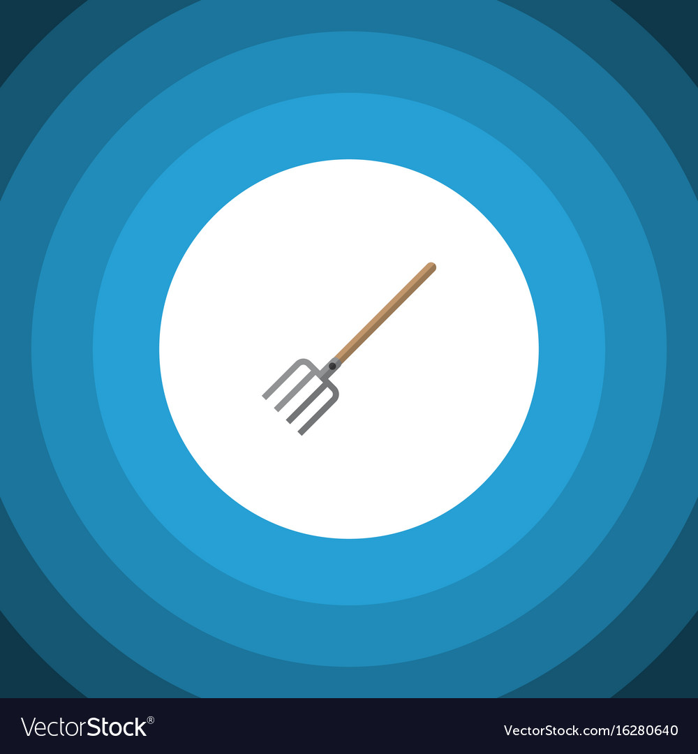 Isolated pitchfork flat icon hay fork