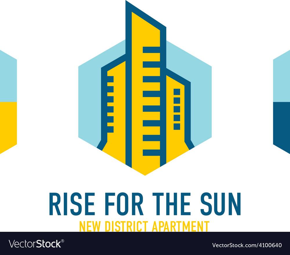 Skyscrapers logo template Real estate company