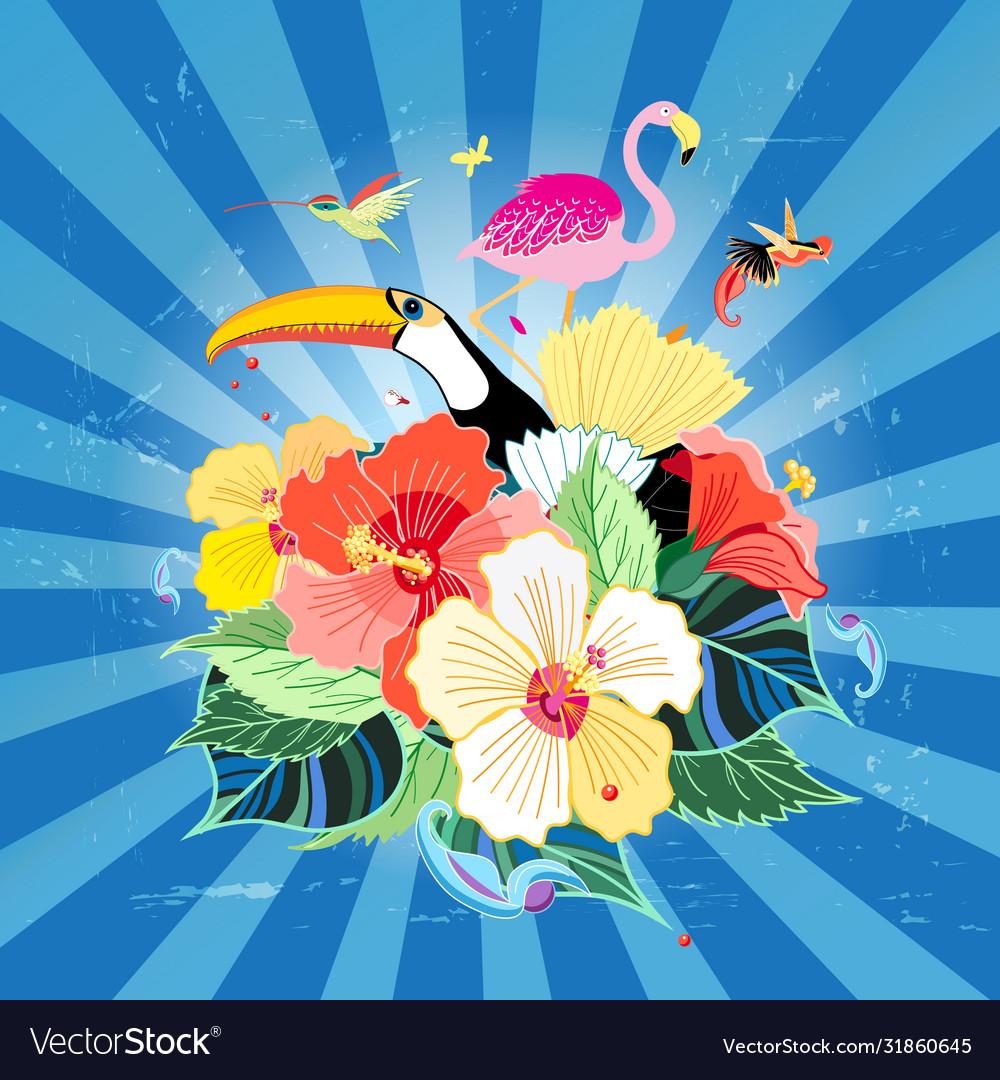 Bird paradise and plants