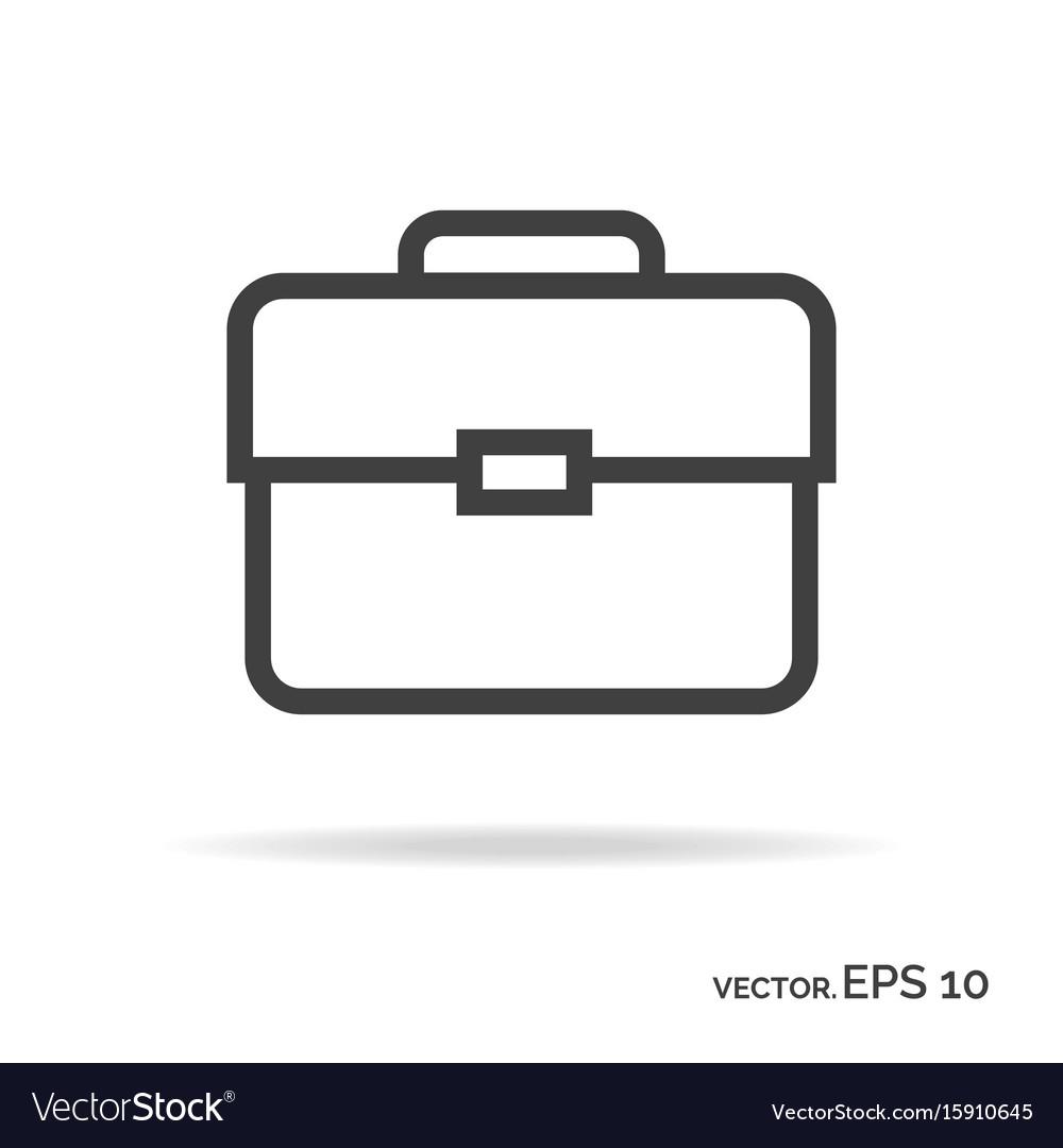 Briefcase portfolio outline icon black color