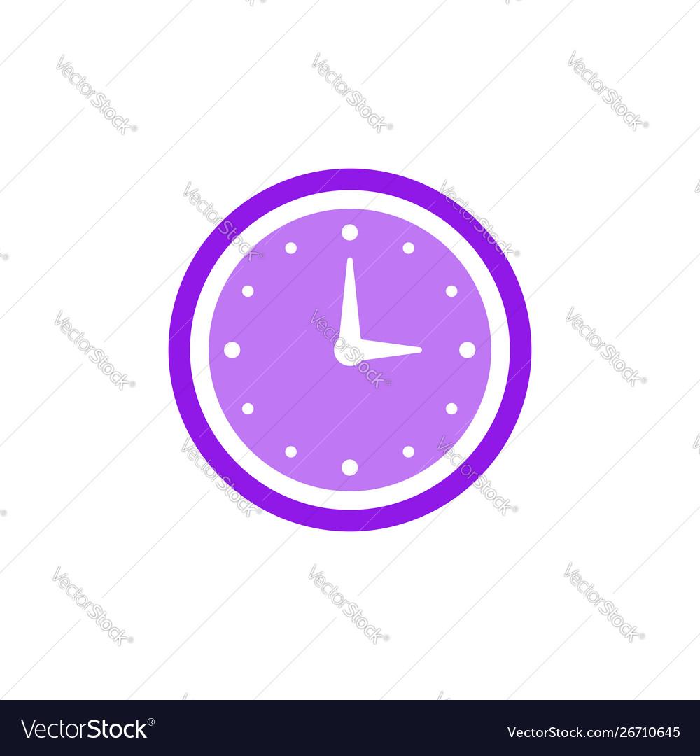 Clock icon flat design element watch