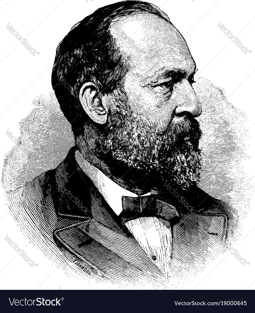 General James Abram Garfield Vintage Royalty Free Vector