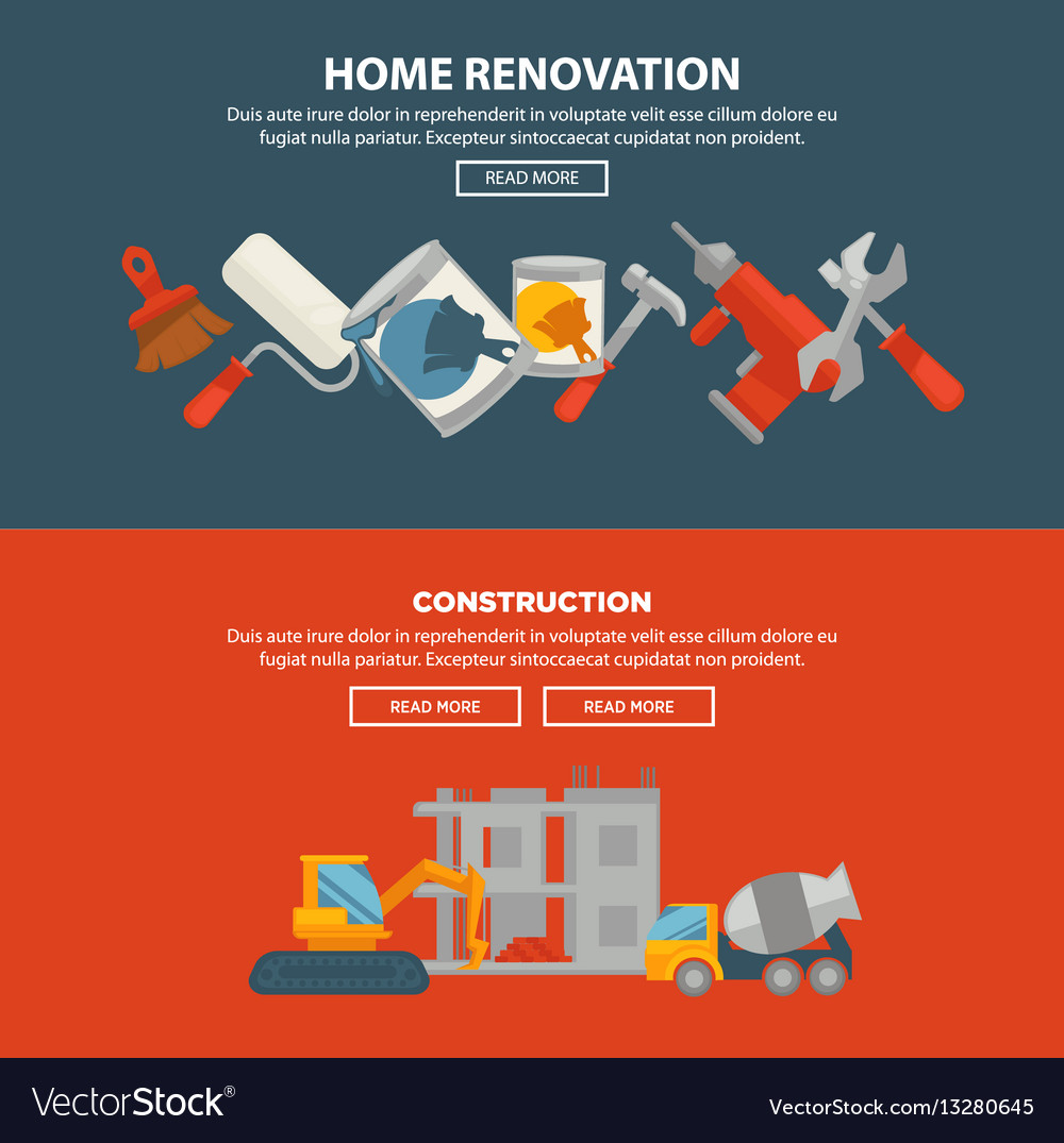 Home renovation and construction web banner